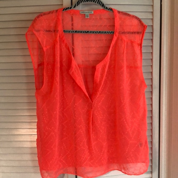 American Eagle Outfitters Tops - Super cute American Eagle sheer blouse XL